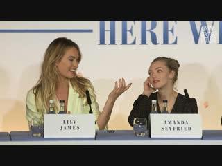 Отрывок с пресс-конференции команды фильма «Mamma Mia! Это снова мы» в Лондоне (русские субтитры)
