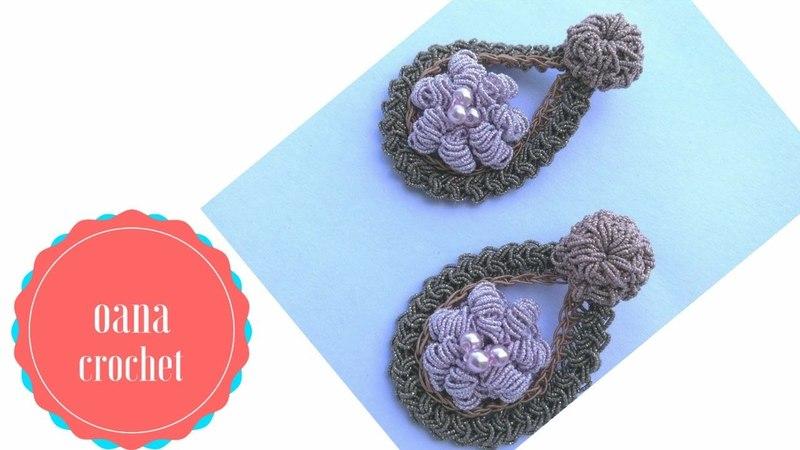 Crochet fancy earrings by Oana