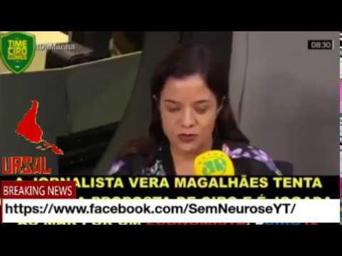 Ciro Gomes e Eduardo Moreira ensinando economia para Vera Magalhães