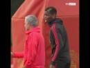 José Mourinho and Paul Pogba filmed in apparent training ground clash