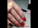 укрепление натуральных ногтей твёрдым гелем цветное покрытие