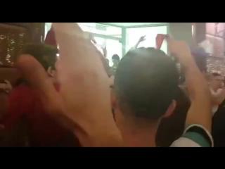 Les russes font la fête avec les croates bien que le match n'ait pas été remporté par la russie