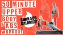50 Minute Upper Body and Abs Workout (with my fiancé, Dustin!) 🔥Burn 500-550 Calories! 🔥