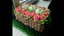 Amazing Flower Basket Cake Decorating   Flower Basket Cake Tutorial   Flower Basket Cake Decoration