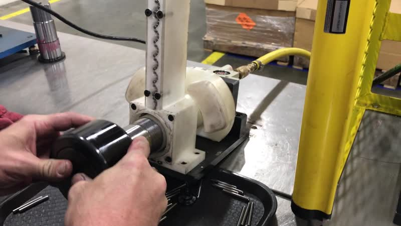 3D printed bearing assembly machine. Figured some of you might enjoy an example of an industrial application put to use. All of