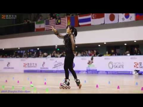 2018 SSO 上海轮滑公开赛 成女花桩 5th,王鼎郁馨 MST 大师队