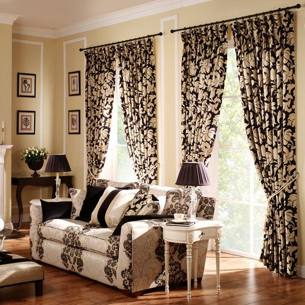 Модные шторы в стиле «фьюжн»