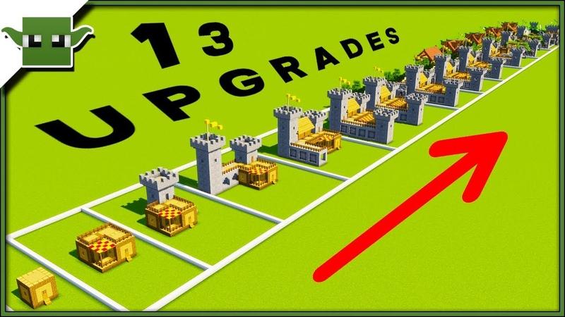 13 Minecraft 5x5 House Upgrades Speedbuild Timelapse