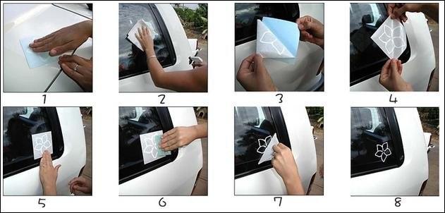 Как наклеить виниловую наклейку на авто своими руками