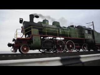 Паровоз Су251-86 на дамбе Кременчугского водохранилища