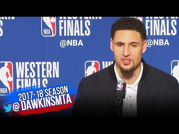 Klay Thompson Postgame Interview Warriors Rockets Game 6 2018 WCF FreeDawkins