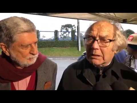 Agora: Nobel da paz Adolfo Pérez Esquivel e o ex-ministro Celso Amorim visitam Lula. LulaLivreJá