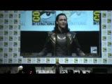 Tom Hiddleston cosplaying as Loki at Comic Con 2013