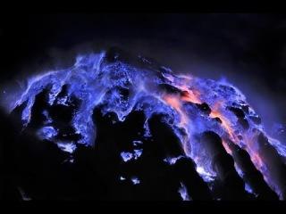 Это удивительно и интересно! Вулкан с голубой лавой!  Kawah Ijen!
