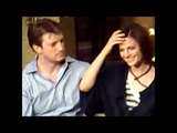 Stana Katic &amp Nathan Fillion interview (2009) - Stana singing to Nathan (Dream A Little Dream Of Me)