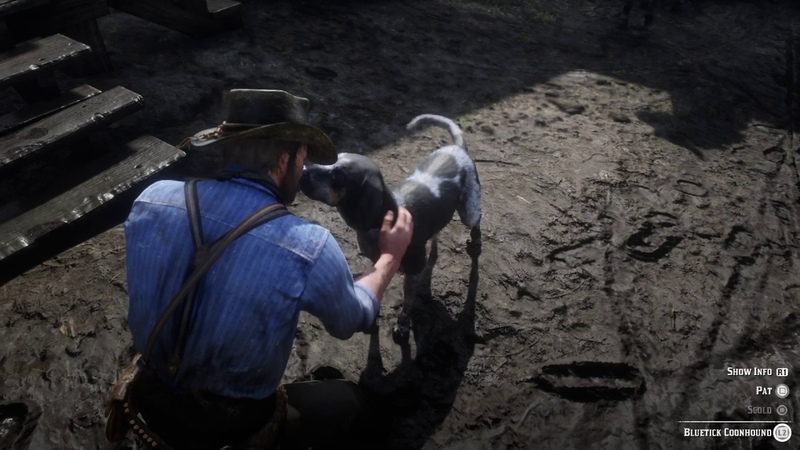 Red Dead Redemption 2 - Petting a Dog For Several Minutes