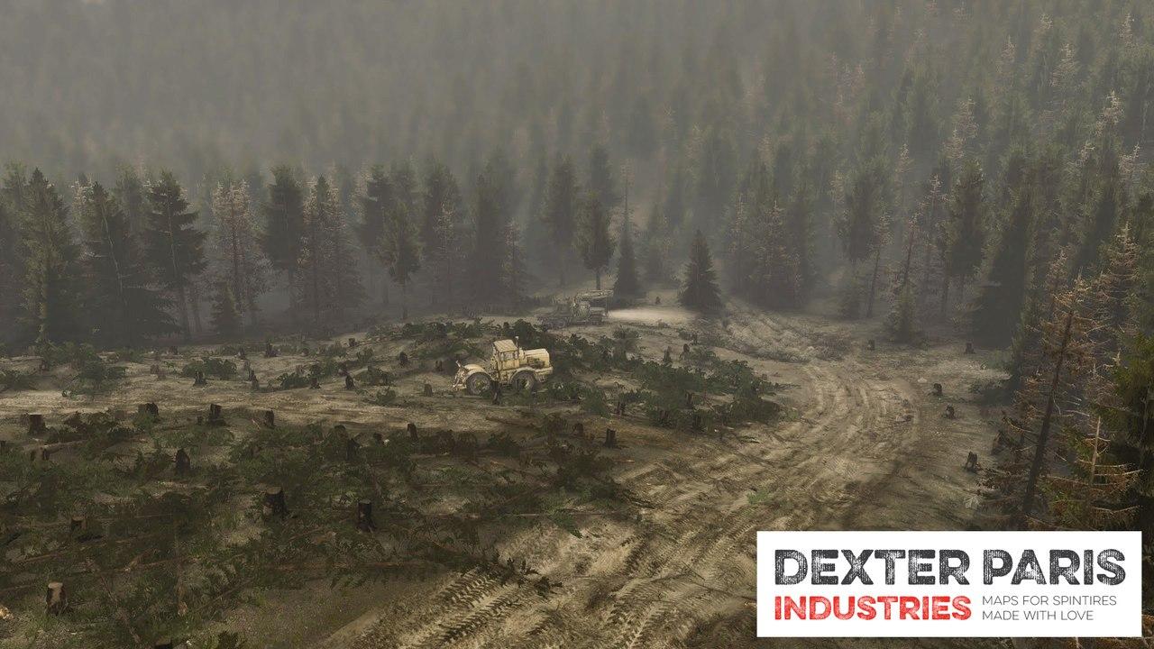 Карта «DPI Tihomir Forest» для 03.03.16 для Spintires - Скриншот 2