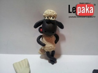 ����� ��������� ���� �� ����������. How to make a Shaun the sheep of clay