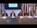 Новак принимает участие в пресс-конференции по итогам встречи министров стран ОПЕК