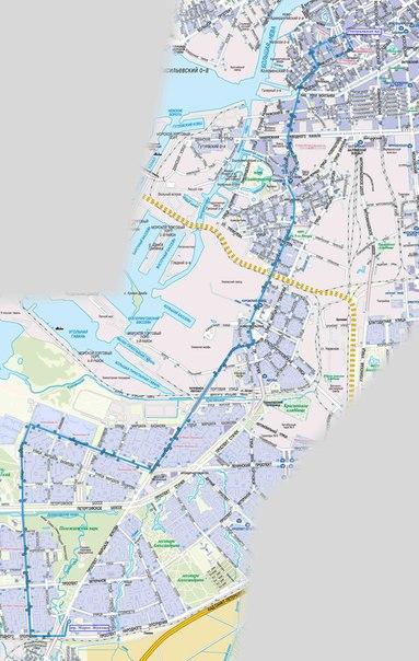 УВЕЛИЧИТЬ.  Схема маршрута К-195.