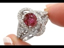 GIA Certified Unheated Red Ruby Diamond Platinum Ring 3.31 TCW - C1088