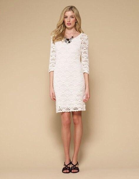 Платье вязанное крючком, схема узора (3 фото) - картинка