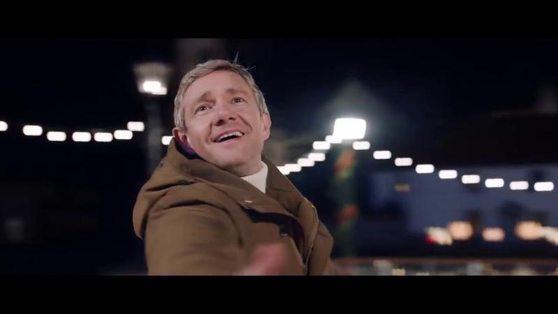 Martin Freeman in the Christmas ad for Vodafone UK- Glide Through Christmas