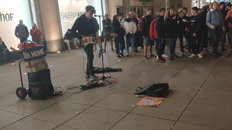AlexanderPlatz street Performers in Berlin Germany - 1