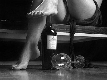Секс с выпивкой