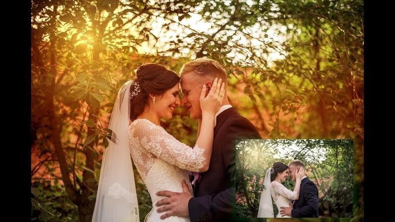 Photoshop CC 2018 Düğün Fotoğrafları canlı renkler ve ışık efekti