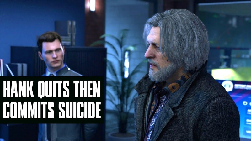 Hank Quits His Job Then Commits Suicide - Detroit: Become Human