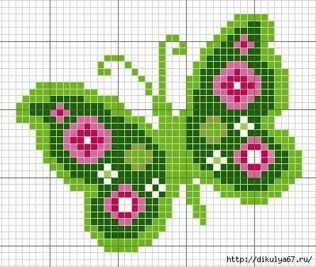 Вышивка крестиком. Бабочки. (9 фото) - картинка