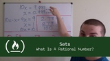 Maths for Programmers Sets (What Is A Rational Number)