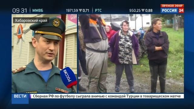 Новости на Россия 24 • В Хабаровском крае паводок смыл участок шоссе