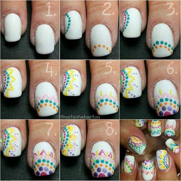 Рисунки на ногтях для начинающих пошагово фото