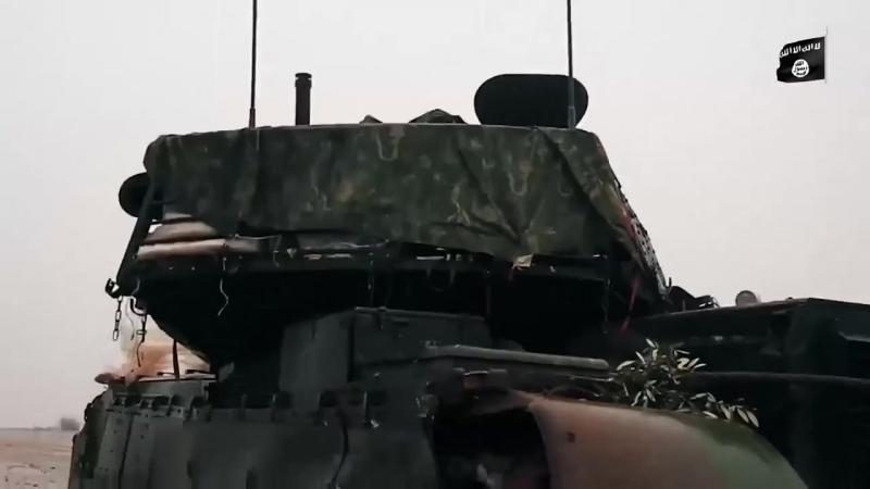 Турецкие танки Леопард-2А4 подбитые боевиками ИГИЛ в Сирии