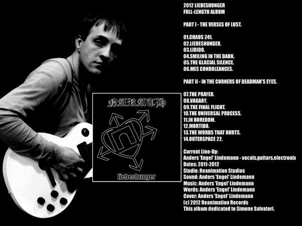 Новый альбом NARATH - Liebeshunger (2012)