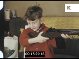 Children Opening Christmas Presents, 1960s 8mm