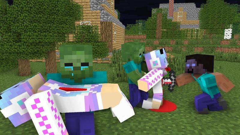 Monster School : RIP Cute Girl | Zombie Life 5 - Minecraft Animation
