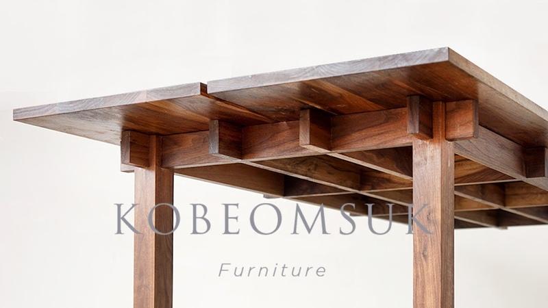Kobeomsuk furniture - Making interlocking joinery walnut table