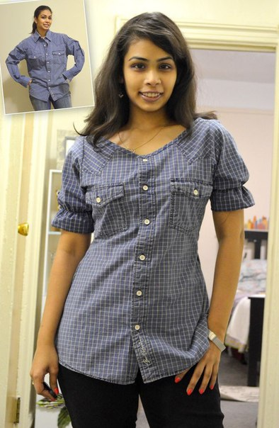 Переделки из рубашки своими руками фото