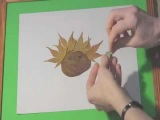 Art and Craft:How to make funny face with leaves. Boy.