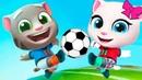 ГОВОРЯЩИЙ ТОМ БЕГ ЗА ЗОЛОТОМ ДРУЗЬЯ ТОМ ФУТБОЛИСТ Мультик игра видео для детей Игровой мультфильм