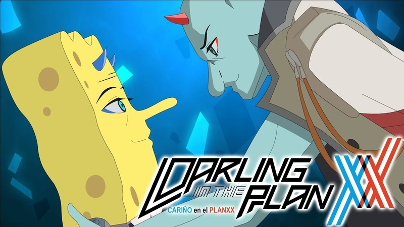 The SpongeBob SquarePants Anime OPENING Darling in the Planxx Original Animation