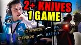 WHEN PRO PLAYERS GET 2+ KNIFE KILLS IN 1 ROUND! (MULTI KNIFE KILLS) - CSGO