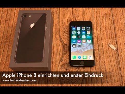 Apple iPhone 8 einrichten und erster Eindruck