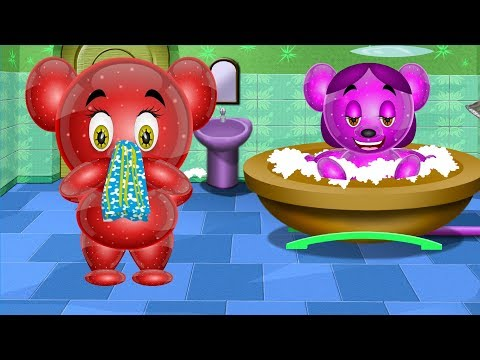 💚💙❤️ Bath Song for Kids | Play Bath | Gummy Bear Animation Rhymes Songs for Children💚💙❤️