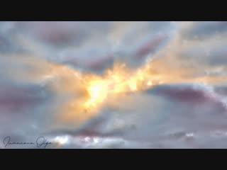 Утренняя акварель октябрьского неба     #ae#trapcode#shine#