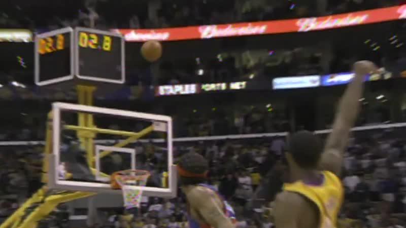 Трехочковый Кобе Брайанта в матче с «Детройтом»