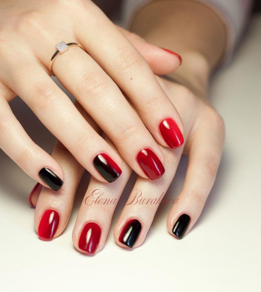 Красно-черный маникюр - Nail Trend женский журнал о